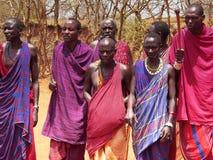 Guerreros del Masai. Imágenes de archivo libres de regalías