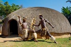 Guerreros del Zulú Imagen de archivo libre de regalías