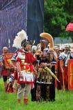 Guerreros en el campo de batalla Imagen de archivo libre de regalías