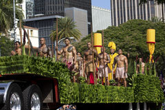 Guerreros hawaianos Imágenes de archivo libres de regalías