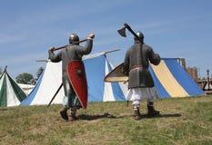 Guerreros medievales Fotografía de archivo