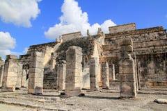 Guerreros Messico di Los del tempiale dei guerrieri di Chichen Itza Fotografie Stock