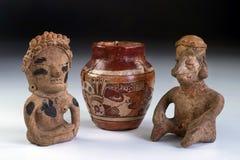 Guerreros precolombinos de la cerámica y de la arcilla. Fotos de archivo libres de regalías