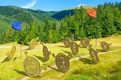 Guerres de devise bataille sur la colline photos stock