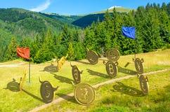 Guerres de devise bataille sur la colline images libres de droits