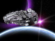 Guerres des Étoiles de vaisseau spatial Photographie stock libre de droits