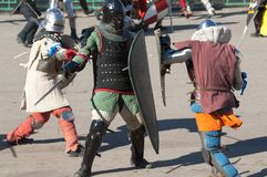 Guerres médiévales Photographie stock libre de droits