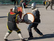 Guerres médiévales Image libre de droits