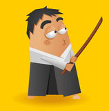 Guerrier d'Aikido Image libre de droits