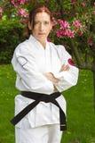 Guerrier d'art martial de femme Photographie stock libre de droits