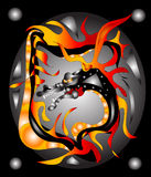 Guerrier de dragon Images libres de droits