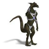 Guerrier de dragon d'imagination Images stock