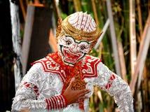 Guerrier de Hanuman le dieu du singe dans l'histoire de ramayana Images stock