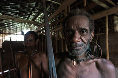 Guerrier de Korowai Kombai (Kolufo) Images libres de droits