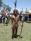 Guerrier de la Papouasie Photographie stock