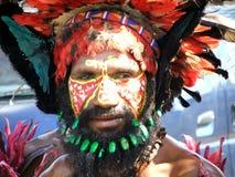 Guerrier de la Papouasie Image stock