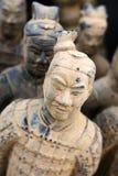 guerrier de terre cuite de sculpture en reproduction Photos stock