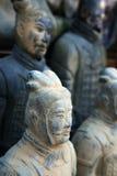 guerrier de terre cuite de sculpture en reproduction Photographie stock