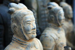guerrier de terre cuite de sculpture en reproduction Photo libre de droits