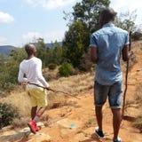 Guerrier de zoulou Images libres de droits