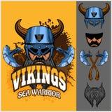 Guerrier et éléments de Viking Photo stock