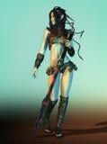 Guerrier féminin d'Elven, 3d CG. illustration de vecteur