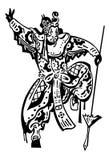 guerrier japonais Illustration de Vecteur