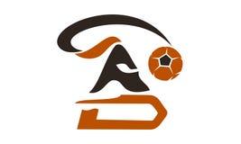 Guerrier Logo Design Template du football Photographie stock libre de droits