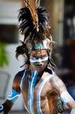 Guerrier maya antique Photo libre de droits