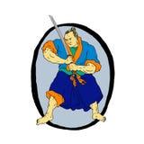 Guerrier samouraï Katana Enso Photographie stock libre de droits