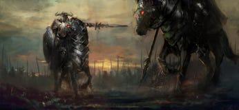 guerrieri royalty illustrazione gratis