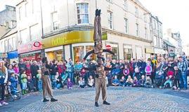 Guerrieri africani a Inverness Immagini Stock