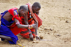 Guerrieri di Maasai Immagini Stock Libere da Diritti