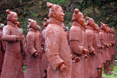 Guerrieri di terracotta Immagini Stock