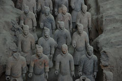 Guerrieri di terracotta Fotografie Stock Libere da Diritti
