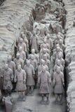 Guerrieri di terracotta, Cina Fotografia Stock Libera da Diritti