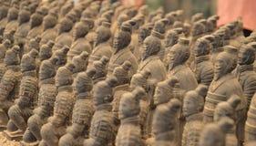 Guerrieri di terracotta da Xian Fotografie Stock