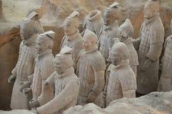 Guerrieri di terracotta da Xian Fotografie Stock Libere da Diritti