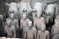 Guerrieri di terracotta della Cina Immagini Stock Libere da Diritti