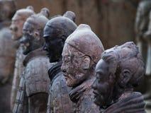 Guerrieri di terracotta della Cina Immagini Stock