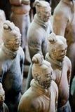 Guerrieri di terracotta di Qin fotografia stock libera da diritti