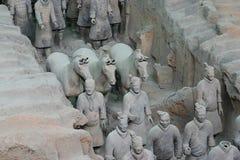 Guerrieri di terracotta - Xian Fotografia Stock Libera da Diritti