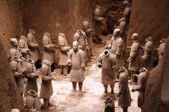 Guerrieri di terracotta in Xian, C Immagini Stock