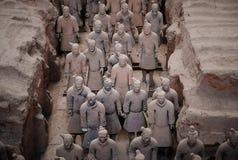 Guerrieri di terracotta in Xian, C Fotografie Stock
