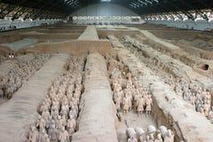 Guerrieri di terracotta, Xian Cina Fotografia Stock Libera da Diritti