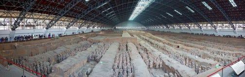 Guerrieri di terracotta in Xian, Cina immagine stock