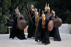Guerrieri greci Immagine Stock