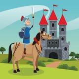 Guerrieri medievali di regno illustrazione vettoriale