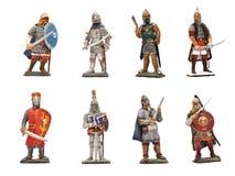 Guerrieri medioevali Fotografia Stock