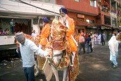 Guerrieri sikh, Amritsar, Punjab, India Fotografie Stock